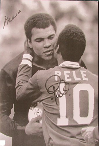 Pele meets Muhammad Ali great POSTER 14.5 x 21 two sporting legends (sent FROM USA in PVC pipe) by Unknown