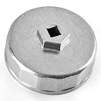Magiin Llave para Filtro de Aceite 74mm Llave de Filtro de Aceite Coche 14 Flautas: Amazon.es: Coche y moto