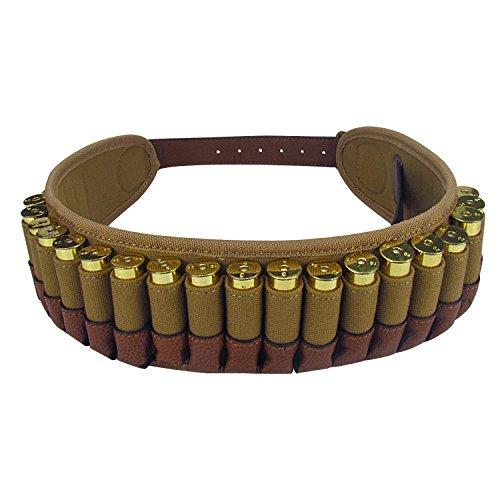 TOURBON 20 Gauge Shotshell Bandolier Cartridge Ammo Carrier Ammunition Belt - Canvas and Leather (Shotshell Carrier)