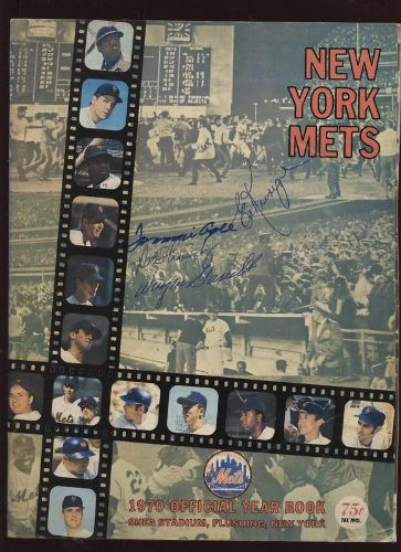 (1970 New York Mets Yearbook 4 Autographs B & E)