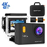 APEMAN 4K Action Camera WiFi 20MP Waterproof Underwater Cam Ultra 170 Angel 2 Inch LCD Display /2 Rechargeable Batteries/30M Waterproof Case /carrying bag/Full Accessories Kits