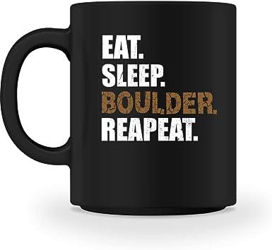 generisch EAT SLEEP BOULDER REPEAT Kletterwand Kletterhalle ...