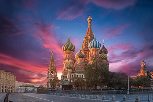 Saint Basils Cathedral Red Square Moscow Russia Photo Art Print Mural Giant Poster 54x36 inch ()