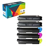 Do it Wiser Compatible Toner Cartridges for Kyocera Ecosys FS-C5250DN FS-C2126MFP FS-C2026MFP FS-C2626MFP FS-C2526MFP – TK-592K TK-592C TK-592M TK-592Y – 5 Pack