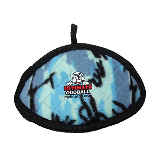 TUFFY Ultimate Odd Ball, Durable Dog Toy (Regular, Camo Blue)