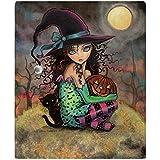 "CafePress - Halloween Hill - Soft Fleece Throw Blanket, 50""x60"" Stadium Blanket"
