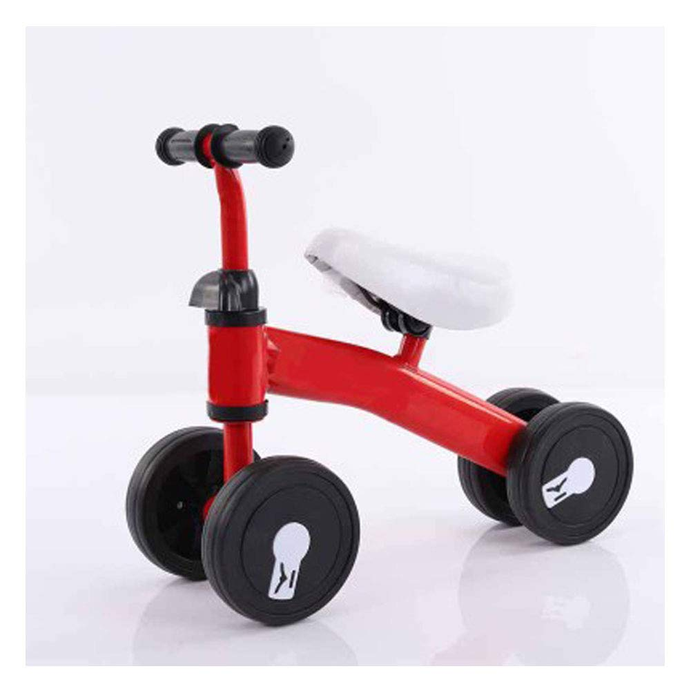 Children's Balance car 1 to 3 Years Old Baby Four-Wheeled Scooter Baby Walker Without Pedal yo, Single-Foot Child Scooter-red