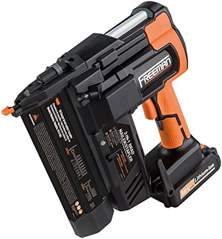 Freeman PE2118G 18 Volt 2-in-1 18 Gauge Cordless Nailer Stapler