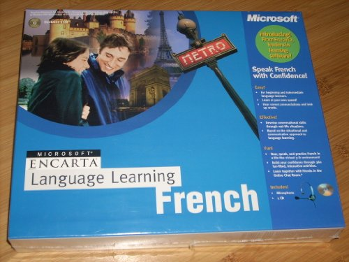 Microsoft Encarta LANGUAGE LEARNING FRENCH Standard 1.0 includes Microphone