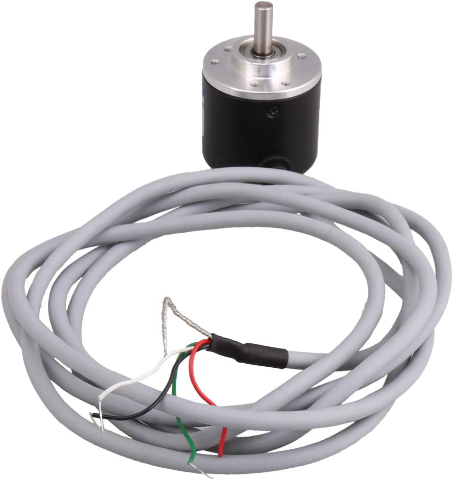 DC5-26V 50N 6000r//min General-Purpose Easy Installation 50mm Encoder with 2m Wire for Home Appliances Industrial Machines 1000P//R Incremental Rotatory Encoder