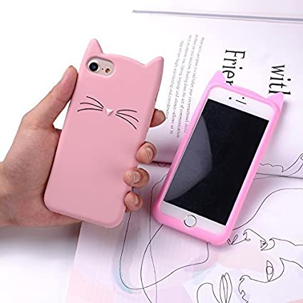 half off 6f229 79108 Aafiya Oppo A3s Cat Covers,Cute 3D Mustache Cat Kitty Soft Silicone Mobile  Phone Back Cases for Oppo A3s-Pink
