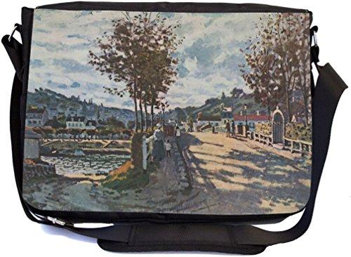 Rikki Knight Claude Monet Art The Seine at Bougival Desig...