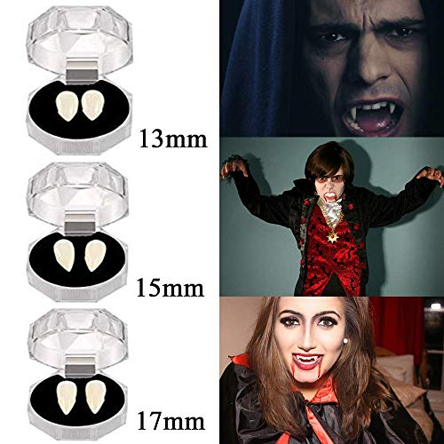 (MAITING 3 Pairs Vampire Teeth Fangs Halloween Party Cosplay Props Horror False Teeth Props Party Favors Cosplay Accessories)