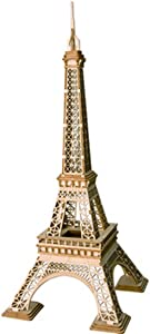 Rolife 3D Wooden Puzzle Wooden Craft Kit Eiffel Tower Model Kit Brain Teaser Games Laser-Cut Building Kits-Model Toy Educational Activity-Best Birthday for Kids to Build
