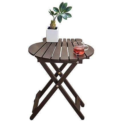 Table Pliante En Bois Massif Maison Balcon Petite Table ...