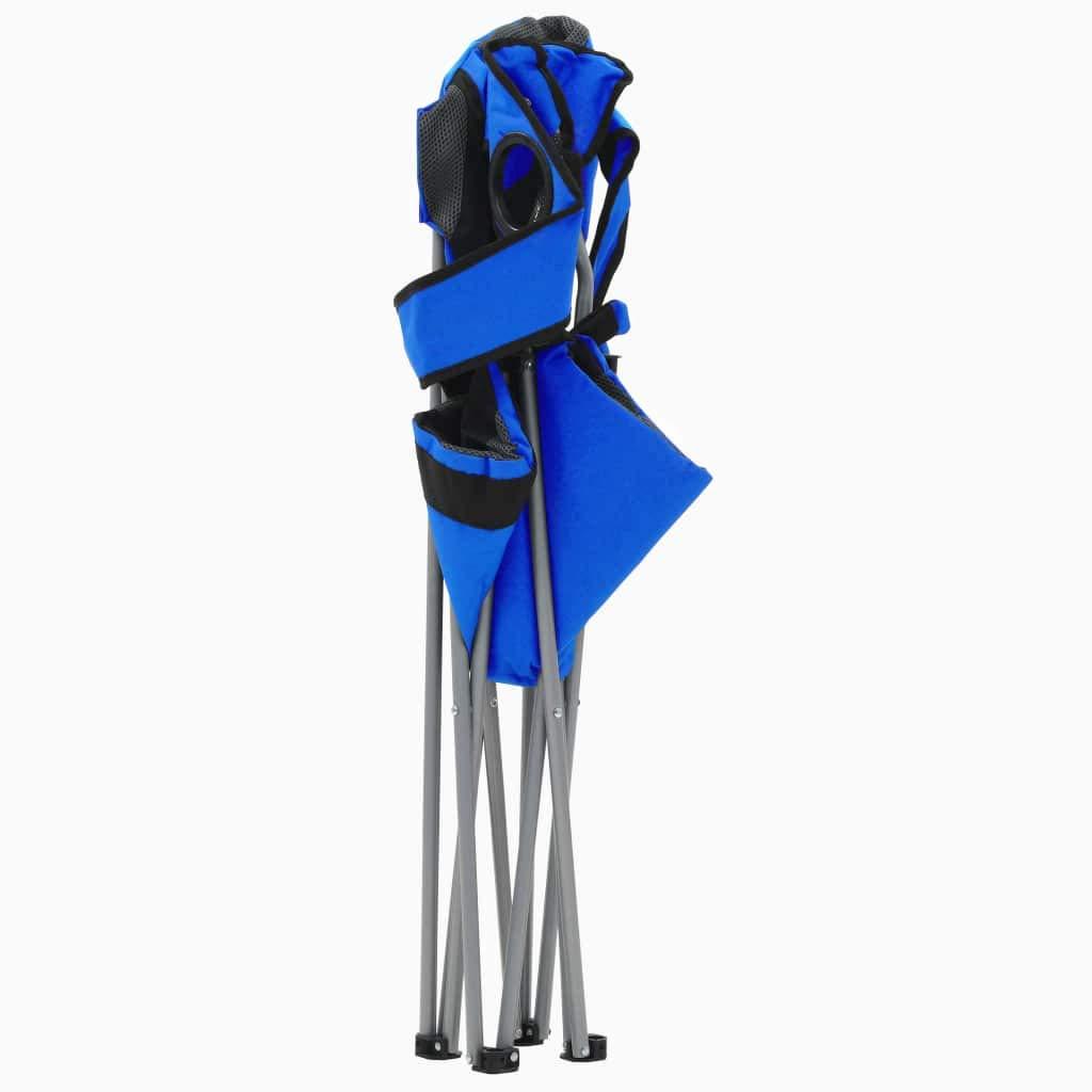 Festnight Lot de 2 pcs Chaises de Camping Pliable Bleu et Noir Chaise ext/érieur pour Plage en Acier 96 x 60 x 102 cm avec Transport Facile