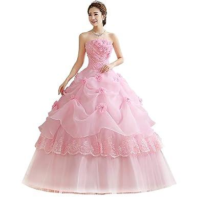 5c7ef12717eca チューブトップ カラードレス 二次会ドレス 謝恩会ドレス 演出服 ウェディングドレス ふわふわドレス ドレス