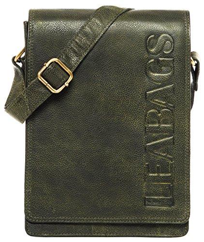 LEABAGS Dover bolso bandolera de auténtico cuero búfalo en el estilo vintage - CrazyVinkat Pinegreen