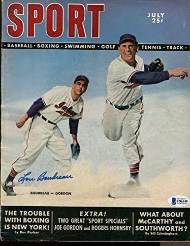 Lou Boudreau Autographed Signed Memorabilia 1949 Sport Magazine Autographed Signed Memorabilia Indians Ex/Mt - Beckett Authentic