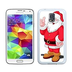 S5 Case,Thumb Christmas Santa Claus Samsung Galaxy S5 Phone Case,S5 I9600 TPU Cover Case