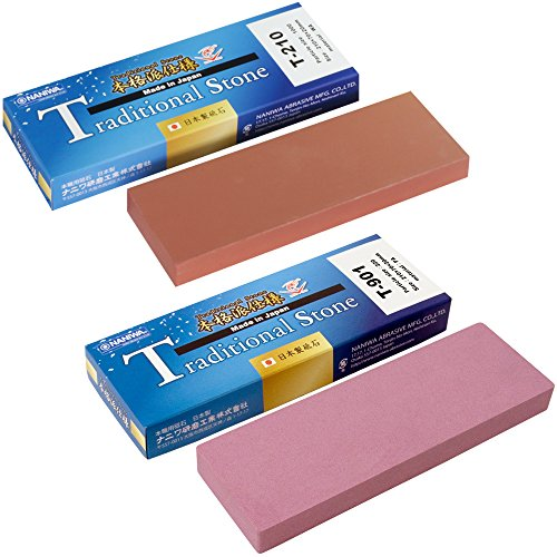 [2 piece set] Sharpening stone [Traditional stone set T-901 220 grit and T-210 1000 grit] NANIWA Made in (220 Grit Stone Set)