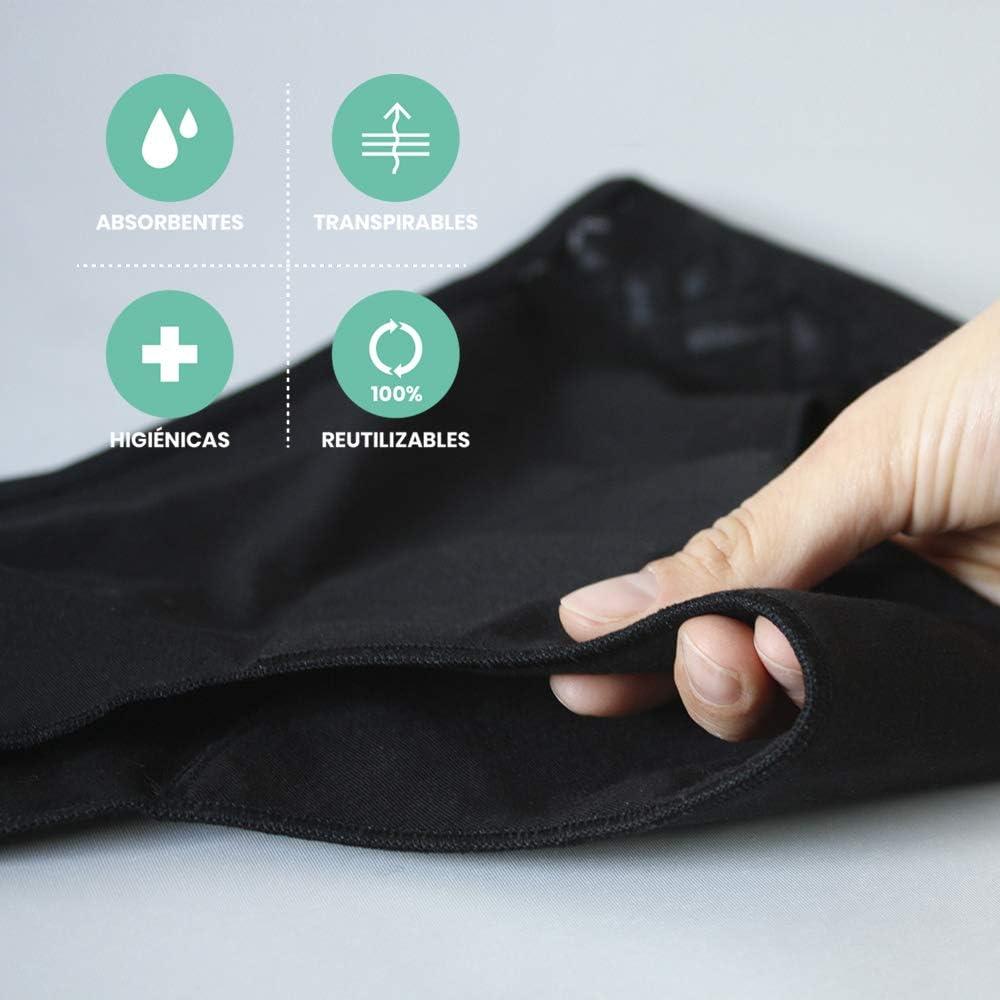 Cocoro Culotte Aran Plus - Bragas Menstruales Absorbentes Flujo Abundante, Talla 5/XL - Negro: Amazon.es: Ropa y accesorios
