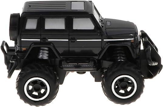 non-brand 1:43 Juguete de Coche de Escalada de Control Remoto 4WD RC Juego de Diversión para Niños - Negro