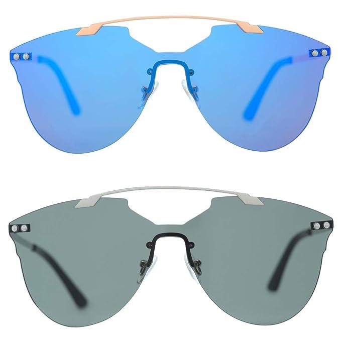 Amazon.com: Gafas de sol cuadradas Blaze doble puente UV400 ...