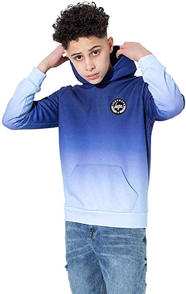Hype Boys Kids Junior Speckle Fade Puffer Crest Sleeve Jacket Coat White//Black