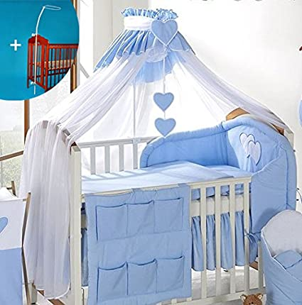COT BED HOLDER Fit COT LUXURY BABY CANOPY DRAPE 480cm WIDTH Blue
