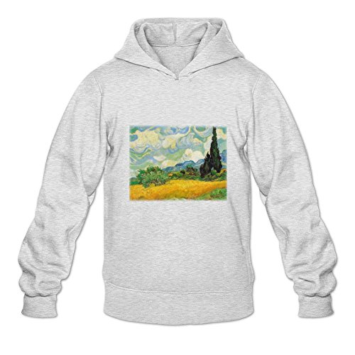 (Oryxs Men's Cypresses Sweatshirt Hoodie L Light Grey )