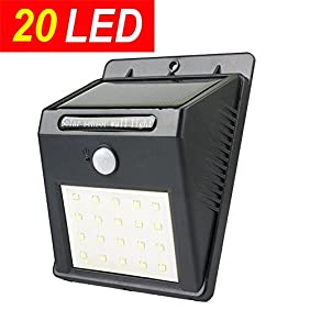 Sogrand 20 LED,Solar Lights Outdoor,Motion Sensor Light,Security Light,for Garden Path Wall Walkway Patio Deck Shed Fence Pathway