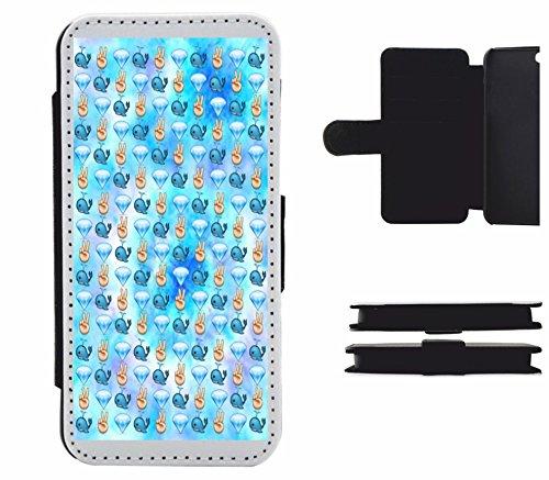 """Leder Flip Case Apple IPhone 6 plus/ 6S plus """"Wal Diamant und Pece in Reihe"""", der wohl schönste Smartphone Schutz aller Zeiten."""