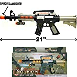 Machine Gun Toy SWAT Rifle Assault FX Sounds Lights & Vibration