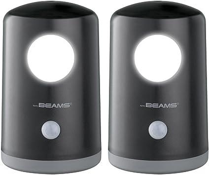 Portable 2-Pack Beams MB750 Wireless Battery-Operated White Motion-Sensing 20 Lumen LED Nightlight Mr