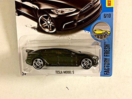 Hot Wheels 2017 Factory Fresh Tesla Model S 43/365, Black Long Card: Amazon.es: Juguetes y juegos