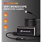 Gadgetise WiFi Borescope Inspection Camera. 2 Megapixel 720p HD with 6 adjustable LED lights. Waterproof, compatible with android/windows/iOS – 5 Meters (16.4 ft.) – Takes pictures and videos.