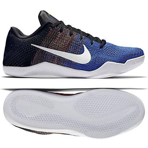 finest selection 00ef9 0e774 NIKE Kobe XI Elite Low BHM 822522-914 White Royal Flyknit Men s Basketball  Shoes