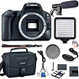 Canon EOS Rebel SL2 Body Only DSLR Camera Kit + Canon Camera Bag + Video Pro LED Light + Shotgun Stereo Microphone + Starter Kit