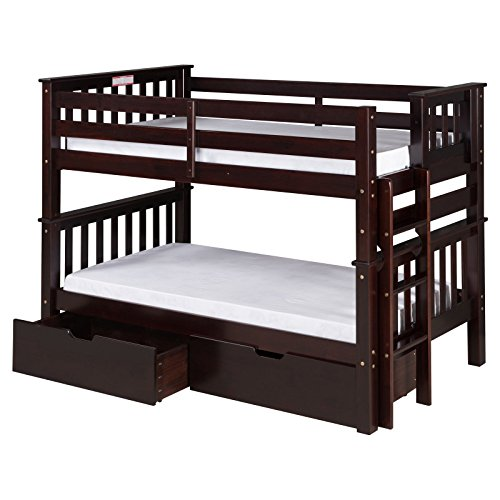 Camaflexi Low Bed Trundle, Twin Over Cappuccino