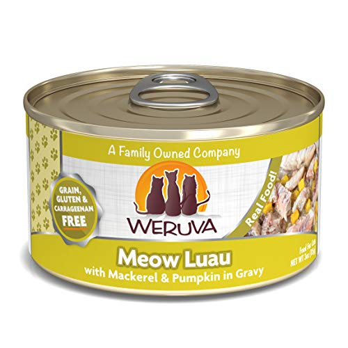 Luau Pumpkin - Weruva Classic Cat Food, Meow Luau With Mackerel & Pumpkin In Gravy, 3Oz Can (Pack Of 24)