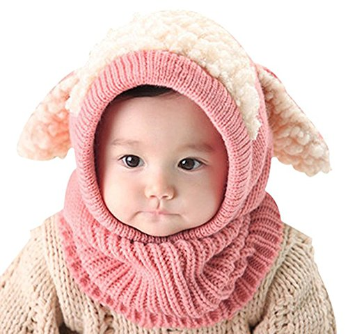 Baby Girls Boys Winter Crochet Bunny Hat Infant Toddler Kid Scarf Earflap Hood Scarves Warm Skull Beanie Caps (Fancy Dress Free Delivery)
