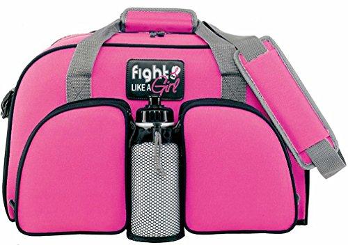 Fight Like a Girl Breast Cancer Weekender Duffel Tote Bag (Pink Ribbon)