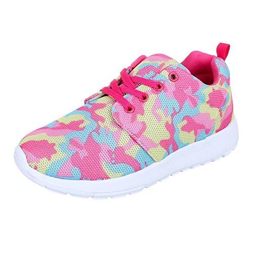 Ital-Design - Zapatillas de Material Sintético para mujer rosa - Rosa Multi