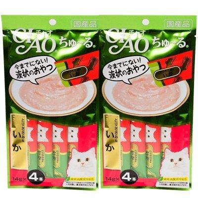 CIAO Chu ru Cat Food Lick Chicken Fillet Mix Squid 2 Pack (4 pcs / pack)