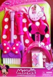 Minnie Mouse Kitchen Set Best Deals - Minnie Mouse Bow-tique Disney Pretend Cleaning Set. Broom, Dustpan, Apron and Small Box.