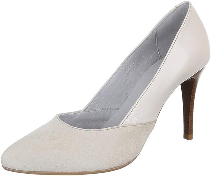 7506148b914fd High Heel Leder Damenschuhe Pfennig-/Stilettoabsatz High Heels Pumps