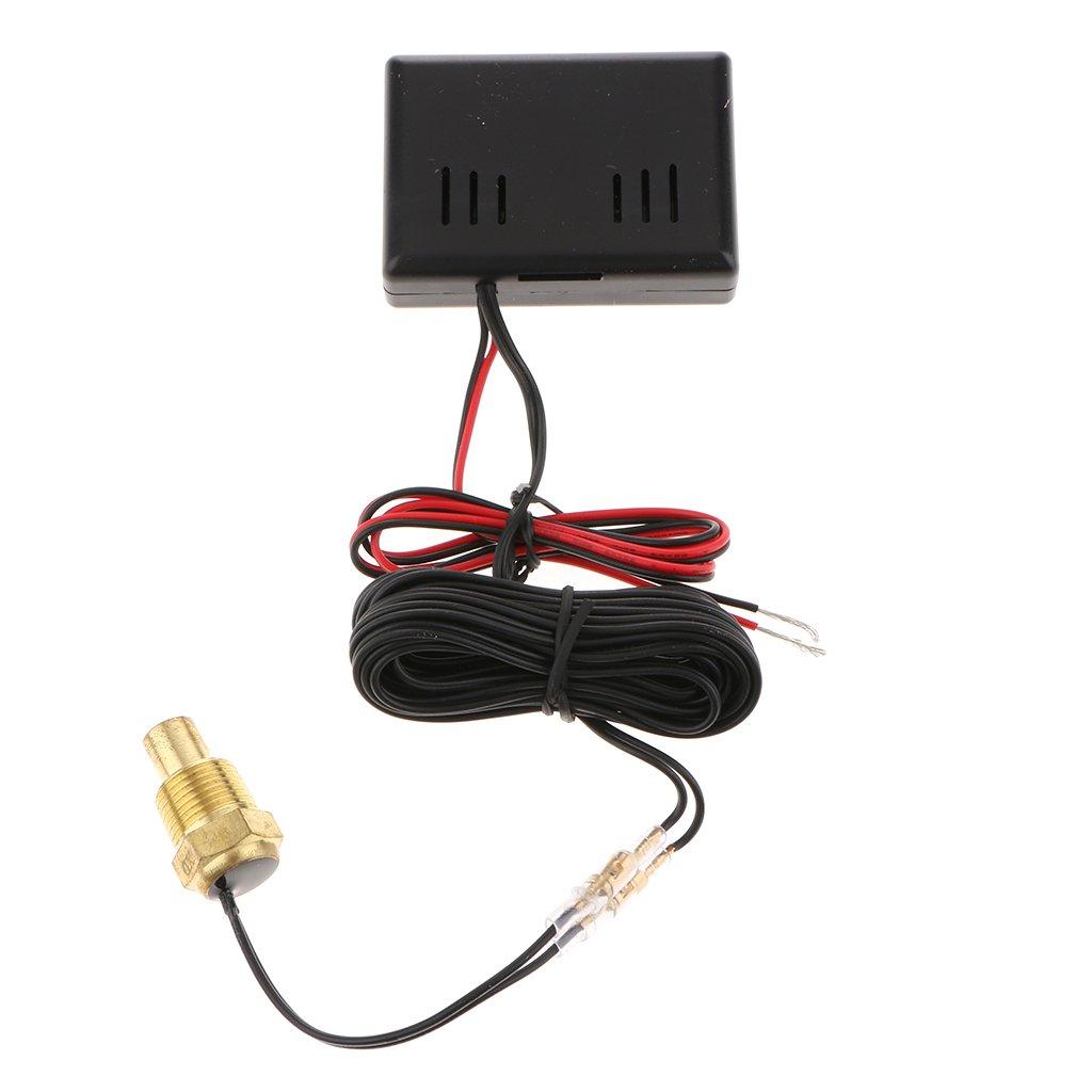 Baosity LCD Digital LED Auto Car Water Temp Gauge Temperature Meter Kits 21mm