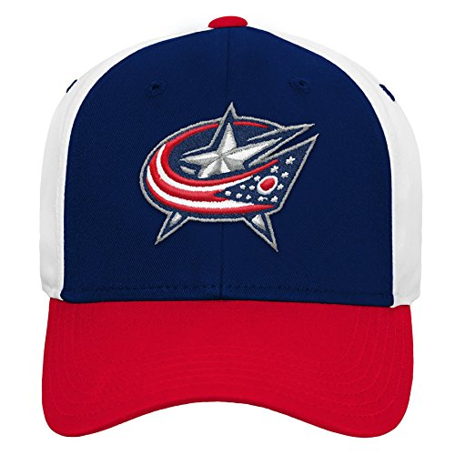 Outerstuff NHL NHL Columbus Blue Jackets Youth Boys Colorblock Structured Adjustable Hat, True Navy, Youth One Size
