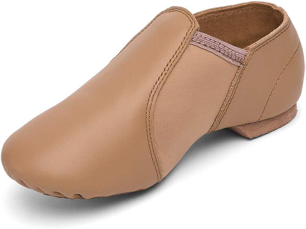 Stelle Leather Jazz Slip-On Dance Shoes for Women Men